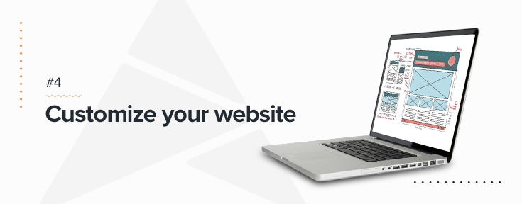 Customize your website