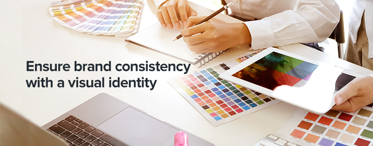 Ensure brand consistency with a visual identity
