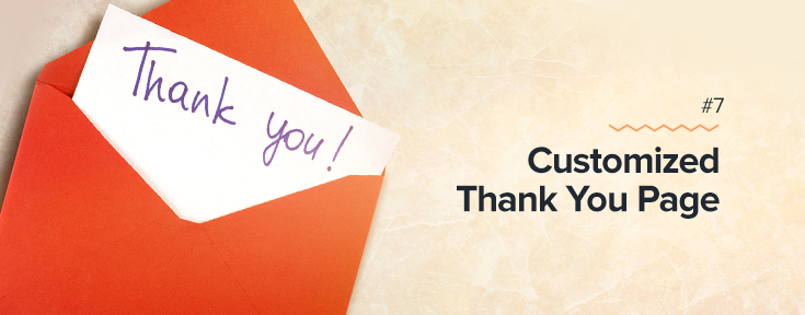 Customized Thank You Page