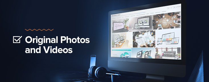 Web Design Checklist - Original Photos and Videos