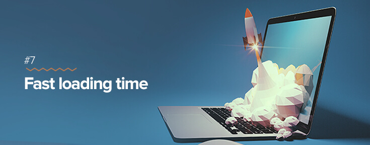 Fast loading time for effective web design