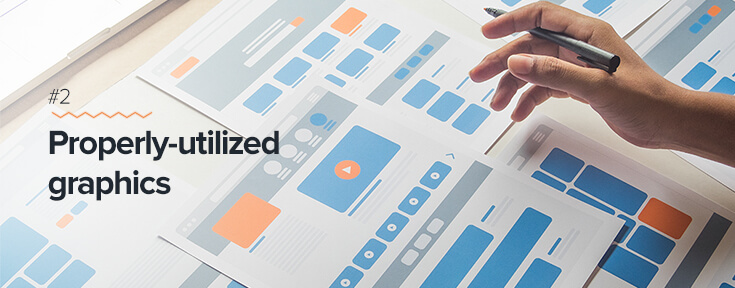 Properly utilized graphics for effective web design