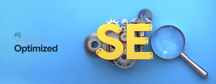 SEO optimized website for effective web design