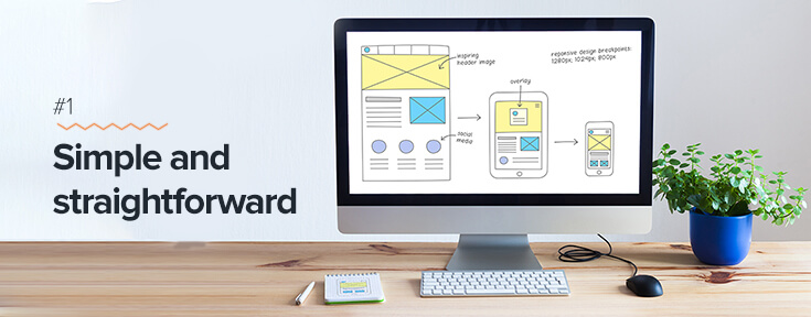 Simple and straightforward for effective web design
