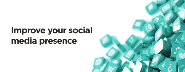 improve your social media presence to promote your website