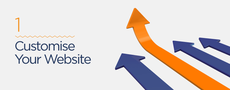 customise your website