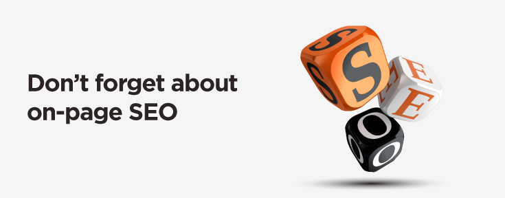 don't forget about on-page seo to maintain seo ranking