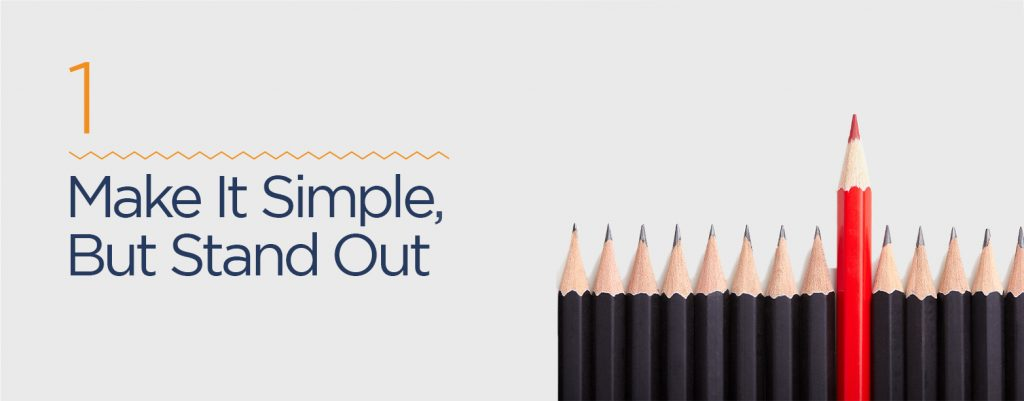 Make website tagline simple, but stand out